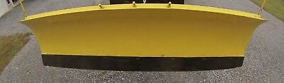 7.5' wide power angle skid steer snow plow