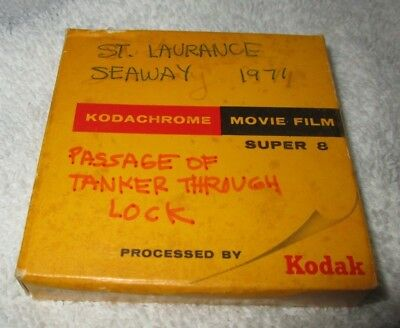 ST. LAWRENCE SEAWAY-PASSAGE OF TANKER THROUGH LOCK-1971 SUPER 8mm HOME MOVIE