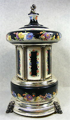 Vintage Mosque Sevres Style by Reuge Swiss Music Carousel w/Video