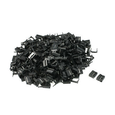 200Pcs FC-12P 2.2mm Pitch Position Flat Cable IDC Socket Connector Black 20x12x5