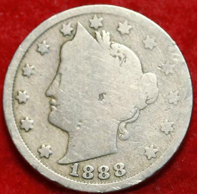 1888 Philadelphia Mint Liberty Nickel Free Shipping