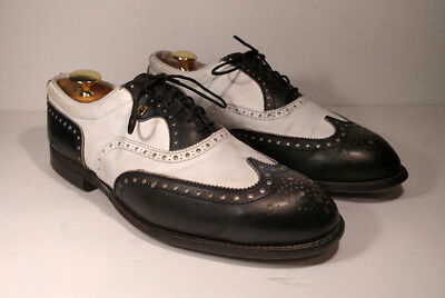 FOOTJOY Classics Mens Black White Wingtip Spectator Golf Shoes Size 10 NICE