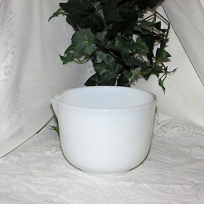 Vintage Milk Glass Mixing Bowl Spout Glasbake For Sunbeam Kitchenware