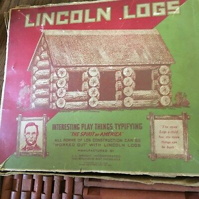 Lincoln Logs Vintage Complete Single Set circa 1932