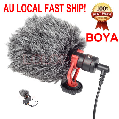 BOYA BY-MM1 Universal Cardiod Shotgun Microphone for iPhone Samsumg MAC Camera