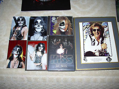 Kiss Peter Criss Vintage Lot 8X10 Photo/criss C.d/cat Tales Rare Dvd/4-4X6 Pics