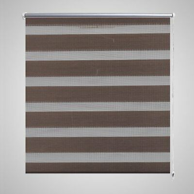 Roller Blind Blackout 80x150cm Coffee Daynight Window Blinds Sunscreen Quality