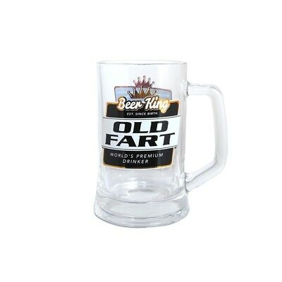 53542 Old Fart 400Ml Beer King Glass Stein Gift Item Collectable