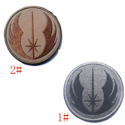 1PC Hot Star Wars Jedi Tacitical 3D Army TAC Embroidered Morale Badge Patch