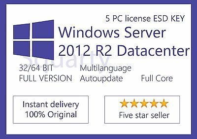 License / Licenza Microsoft Windows Server 2012 R2 Datacenter