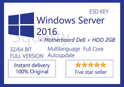 License / Licenza Microsoft Windows Server 2016 Standard + Motherboard DL360