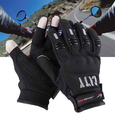 2x Winter Touch Screen Bicycle Cycling Motorcycle MTB Racing Full Finger Gloves