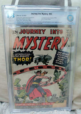 Marvel Comics CBCS cgc 1.8 THOR #83 1ST issue JOURNEY INTO MYSTERY CGC