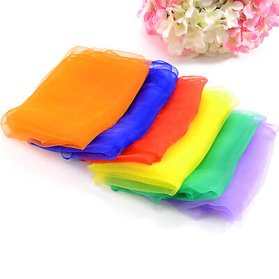 6/12/30 PCS Boys Girls Chiffon Scarf Square Juggling Dance Scarves Gift 70*70cm