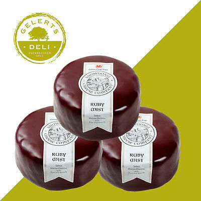 Snowdonia Cheese 3 x 200g Ruby Mist. - Best Deal on Web
