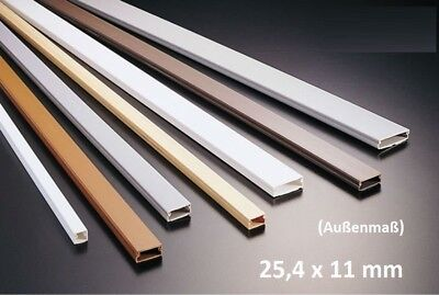 1M Cable Channel 25, 4x11mm White Self Adhesive (3,55 €/ 1m)
