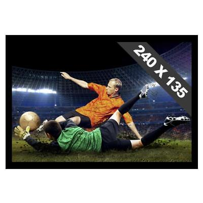 CANVAS PRESENTATION PROJECTOR SCREEN WITH  FRAME 135 x 240