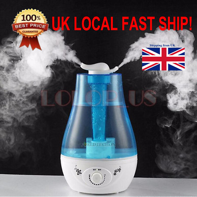2.6L Ultrasonic Home Aroma Humidifier Air Diffuser Purifier Atomizer Dual Mist