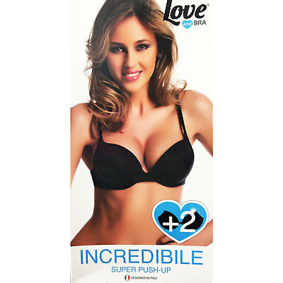 a63df9a7779e Reggiseno donna super push up +2 taglie imbottito Love and Bra INCREDIBILE