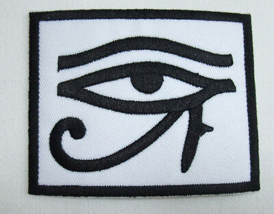 """E22 Egyptian Wadjet Eye of Horus  3-1//2/"""" Embroidered Iron-on Patch"""