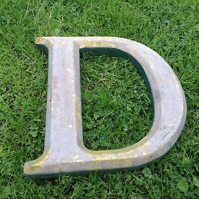 """Vintage Hand Made Hardwood Letter  """"d"""", 10"""" High,  In Good Old Used Condition."""