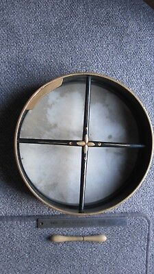 BODHRAN / DRUM / PERCUSSION (approx 34cms) AND  TIPPER / VERY GOOD CONDITION .