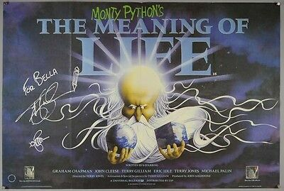 Monty Python's The Meaning of Life original quad poster SIGNED BY TERRY GILLIAM
