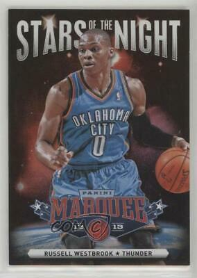 2012 Panini Marquee Stars Of The Night Black Holoboard 10 Russell Westbrook Card
