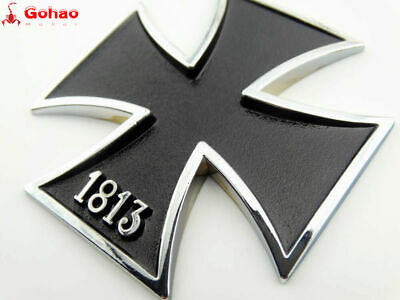 Tank Emblems Badge Decal Metal 1813 Iron Cross Harley Honda Yamaha Suzuki Models
