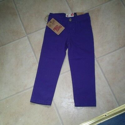"""Girls """"Red Dog"""" Purple Classic Cotton Jeans for Age 2 years BNWT"""