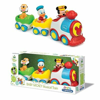 Baby Mickey Toy Musical Train Wind Up Toy With Sounds Age 6+ Months NEW BOXED