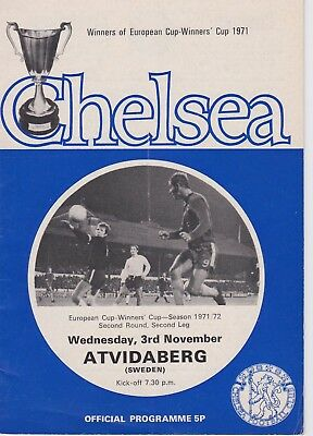 CHELSEA v ATVIDABERG ~ EUROPEAN CUP WINNERS' CUP 2ND ROUND ~ 3 NOVEMBER 1971