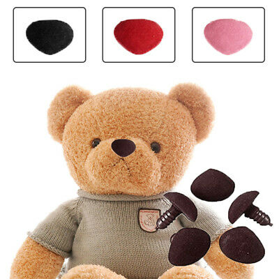 10pcs Plastic Dolls Triangle Velvet Nose Button Bear Toy DIY Accessories nose