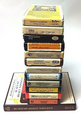 Lot of 14 - 8 Track Tapes Country, Easy Listening, Dean Martin, and Assorted