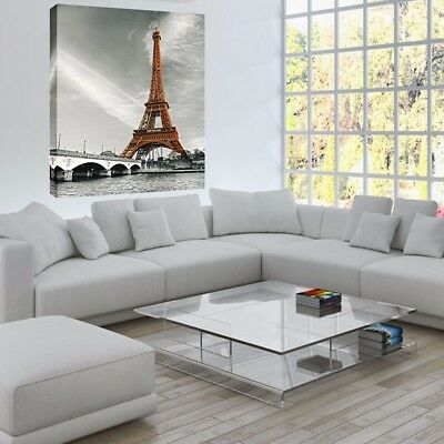 Eiffel Tower Abstract Canvas Painting Print Wall Art Picture Home Decor Unframed