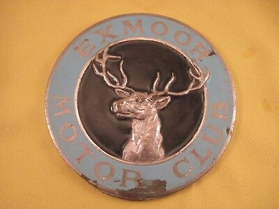 Exmoor Motor Club - Vintage Car Badge - *Fixing plate has been removed*
