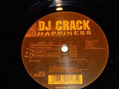 "DJ CRACK - Happiness - UK 3-track 12"" Vinyl Single"