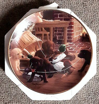 """Franklin Mint Plate  """"a Bushel Of Trouble""""  Limited Edition"""