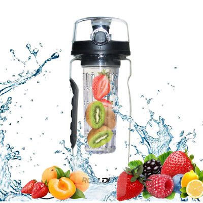 New 1000ml 1L Fruit Infusing Infuser Water Bottle BPA Free Sports Detox Health