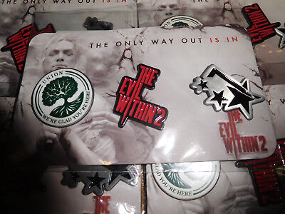 The Evil Within 2 Pin Badge Set Brand New FREE Shipping UK Seller