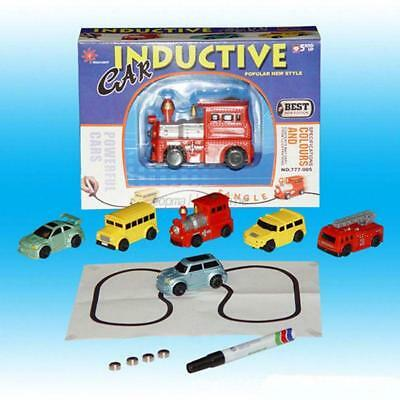 UK Magic Follow Any Drawn Line Pen Inductive Toy Car Truck Bus Tank Model Toy