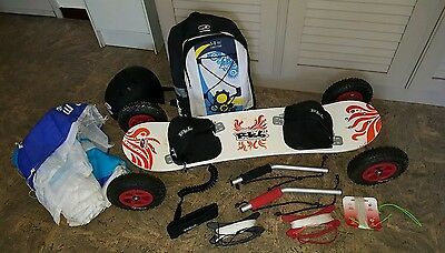 Skateboard kite Radsails + voile 3 m2 + sac LANDBOARD MOUNTAINBOARD