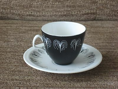 Foley Domino Demitasse Coffee Cup and Saucer  Hazel Thumpston
