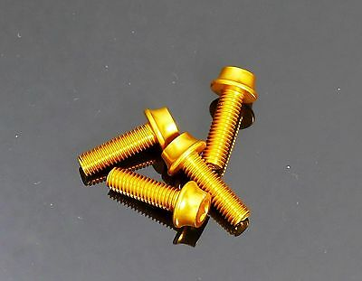 mr-ride Water Bottle Cage bolts screws M5x15mm Gold 4pcs