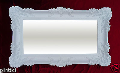 Wall Mirror Baroque Mirror Antique 97x57 badspiegel-weiss High Gloss Reg 3074-1