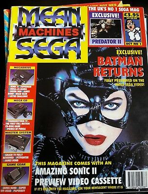 Mean Machines Sega Magazine 1992 issue one 1 very rare in good condition