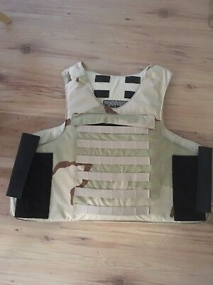 Point Blank Military Body Armour Vest - Front & Rear Ballistic Inserts