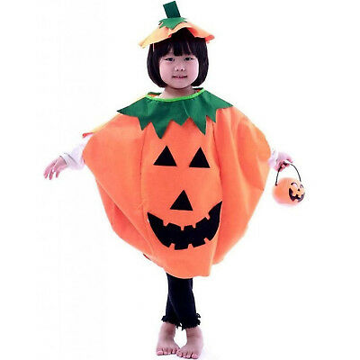 Halloween Costume Lantern Face Pumpkin Non-woven Shirt Kids Party
