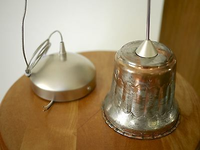 """Vintage French Country Rustic Primitive Copper Hanging Pendant Light Fixture 4"""""""