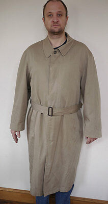 Vintage CHRISTIAN DIOR Le Connaisseur RAIN COAT Wool Lined TRENCH COAT Mens 42R